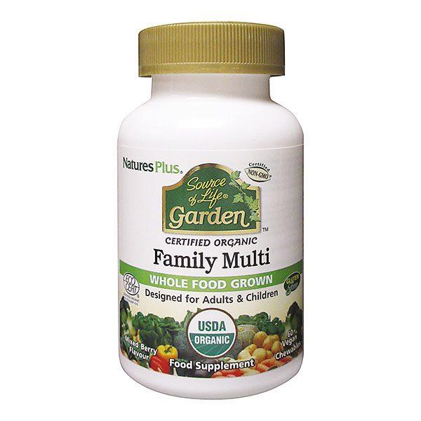 SOURCE OF LIFE GARDEN ORGANIC FAMILY MULTI CHEW (60 caps)