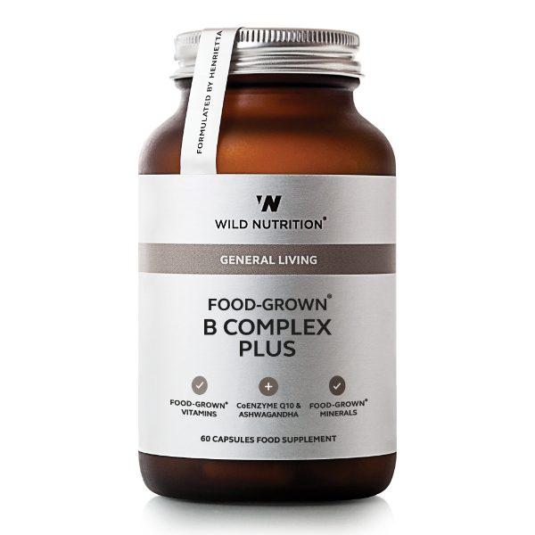 FOOD-GROWN® B Complex Plus  (60 caps)