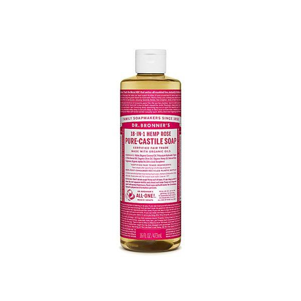 Organic Rose Castile Liquid Soap (473ml)