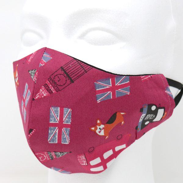 London Maroon – Reusable Face Mask (1 pcs)
